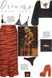 How to wear an Animal Print Satin Midi Skirt!