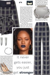 How to wear a Co-Ord Checked Wool Pantsuit!