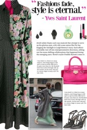 How to wear a Floral Print & Polka Dot Dress!