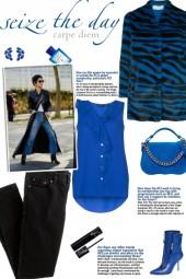 How to wear a Collarless Zebra Print Jacket!