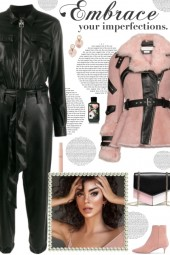 How to wear a Belted Waist Fur Detailed Jacket!