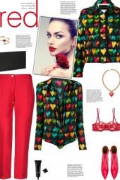 How to wear a Heart Print Denim Jacket!