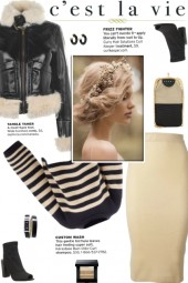 How to wear Fur-Trimmed Faux Leather Crop Jacket!