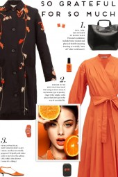How to wear an Embroidered Floral Fitted Coat!