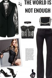 How to wear a Lace Panels Single Breasted Suit Set