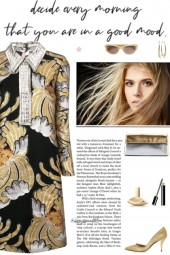 How to wear a Metallic Brocade Dress!