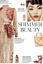 How to wear a Floral Brocade Peplum Dress!