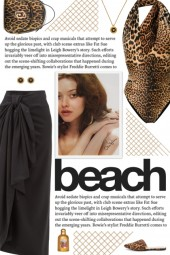 How to wear a Leopard Print Cut-Out Swimsuit!