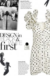 How to wear a V-Neck Polka Dot Dress!