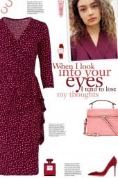 How to wear a Ruffle Detailed Polka Dot Dress!
