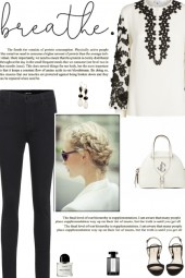 How to wear a Floral Embroider Balloon Sleeve Top!