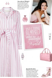 How to wear a Striped Belted Shirt Dress!