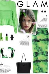 How to wear a Tie-Dye Print High Waist Skirt!