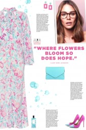 How to wear a Pussy-bow Floral Jumpsuit!