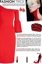 How to wear an Asymmetrical Shoulder-Bearing Dress