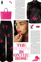 How to wear a Co-Ord Floral Printed Silk Pant Set!