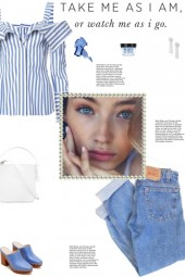 How to wear an Off-Shoulder Striped Top!