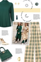 How to wear a Checked Print High Waist Trousers!