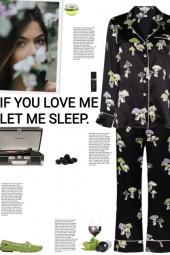 How to wear a Mushroom Print Silk Pajama Set!