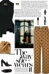 How to wear a Polka Dot Straight Leg Trousers!