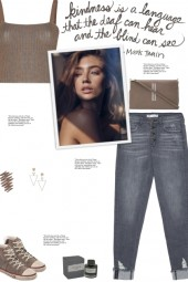 How to wear a Ribbed-Knit Semi-Sheer Crop Top!