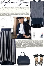 How to wear a Co-Ord Pleated Striped Skirt Set!