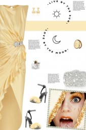 How to wear Crystal Embellished Satin Midi Dress!