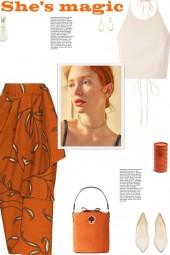 How to wear a High Waist Printed Wrap Midi Skirt!