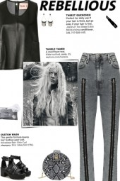 How to wear a High Waist Zip Detail Skinny Jeans!
