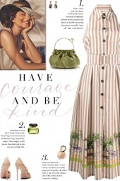 How to wear a Striped Backless Midi Shirtdress!