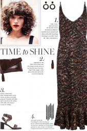 How to wear a Sequin Peplum Hem Midi Dress!