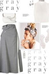 How to wear an Asymmetric A-line Midi Skirt!