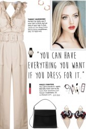 How to wear a Belted Ruffle Detail Jumpsuit!