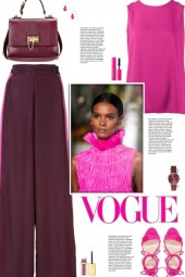 How to wear a Wide Leg Contrasting Trim Trousers!
