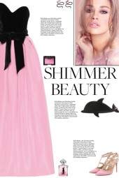 How to wear a Color Block Strapless Gown!