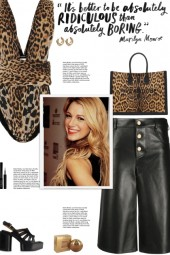 How to wear an Animal Print Plunged Neck Bodysuit!