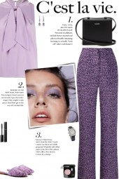 How to wear an Abstract Print Wide Leg Trousers!