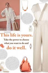How to wear a Wrap V-Neck Waist Tie Jumpsuit!