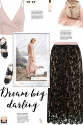 How to wear a Floral Lace Fitted Waist Midi Skirt!