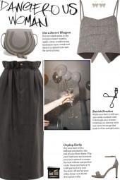 How to wear a Herringbone Pattern Crop Top!