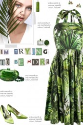 How to wear a Jungle Print Halterneck Dress!