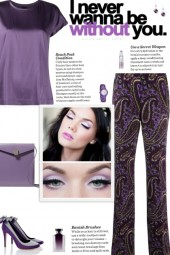 How to wear a Paisley Print Straight Leg Trousers!