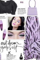 How to wear Abstract Print Georgette Midi Skirt!