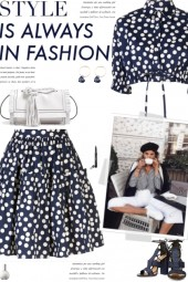 How to wear a Co-Ord Polka Dot Fitted Skirt Set!