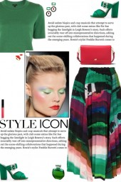 How to wear a Graphic-Print Multicolor Midi Skirt!