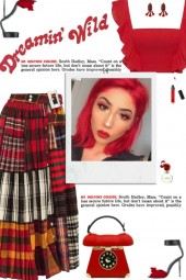 How to wear a Patchwork-Tartan Pleated Midi Skirt!
