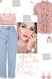 How to wear Ruffled Floral Print Short Sleeve Top!