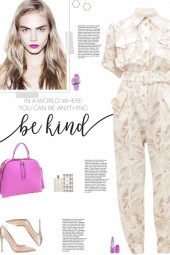 How to wear a Leaf Print Cinched Waist Jumpsuit!