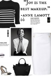 How to wear a Black & White Striped Knit Top!