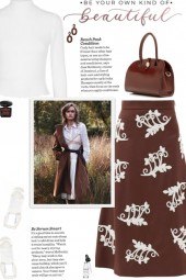 How to wear a Bead Embellished A-Line Midi Skirt!